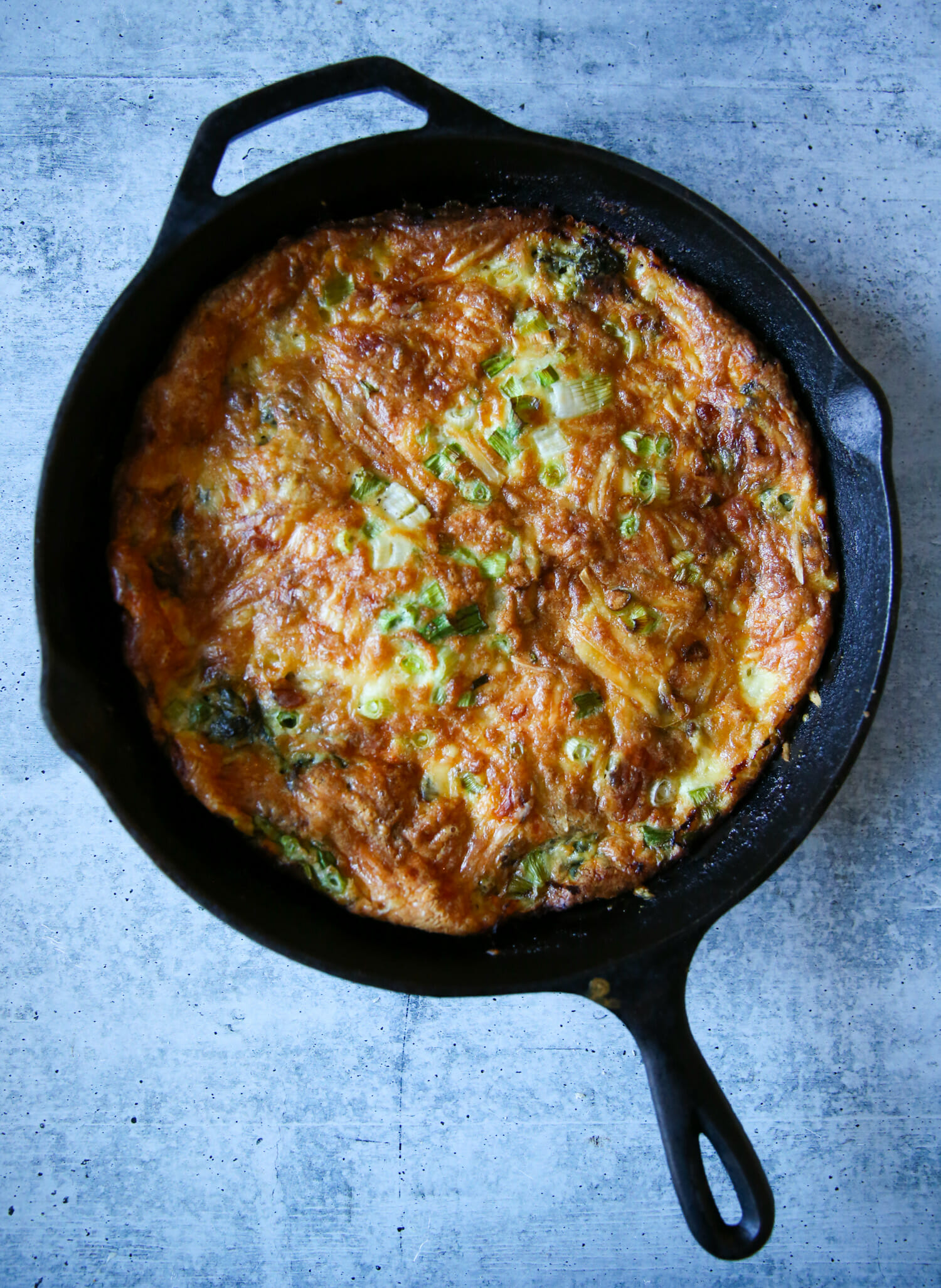 bacon and spinach frittata from our best bites