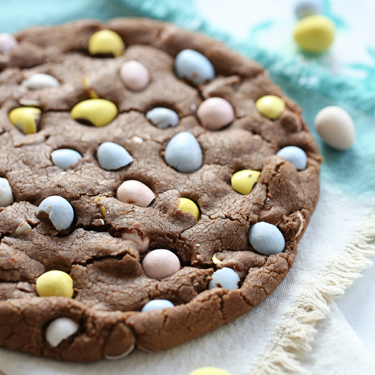 Baked Cadbury Egg Cookie