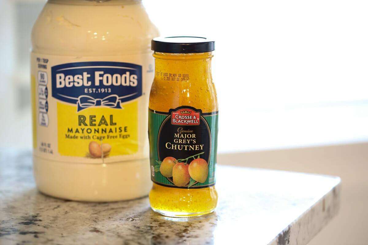 mayo and mango chutney