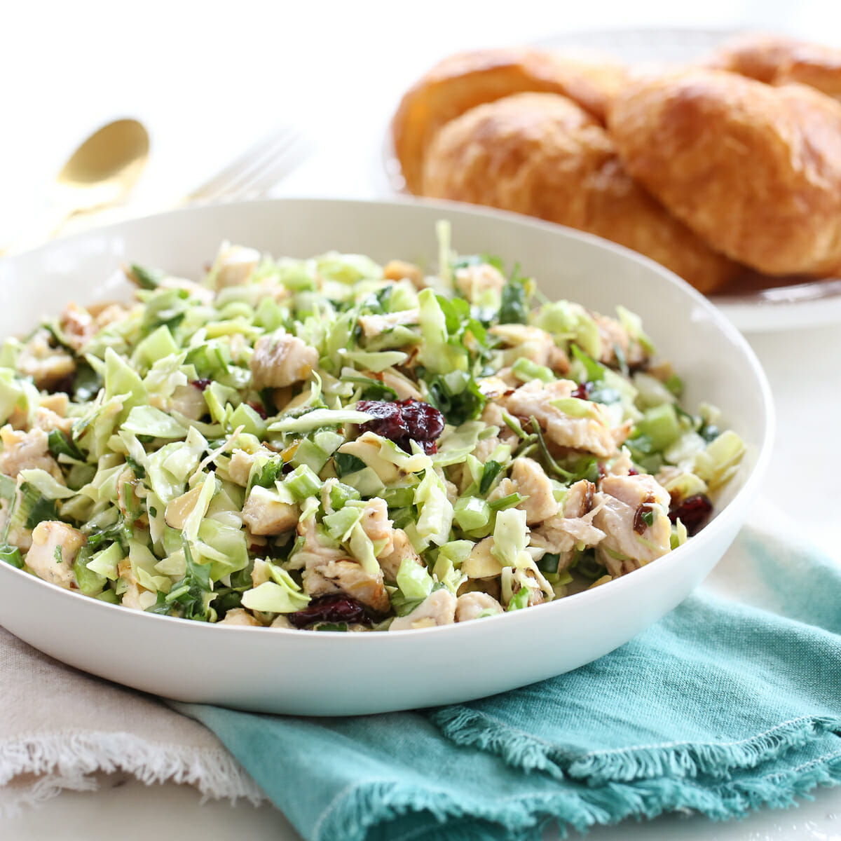 Cabbage Chicken Salad in Bowl