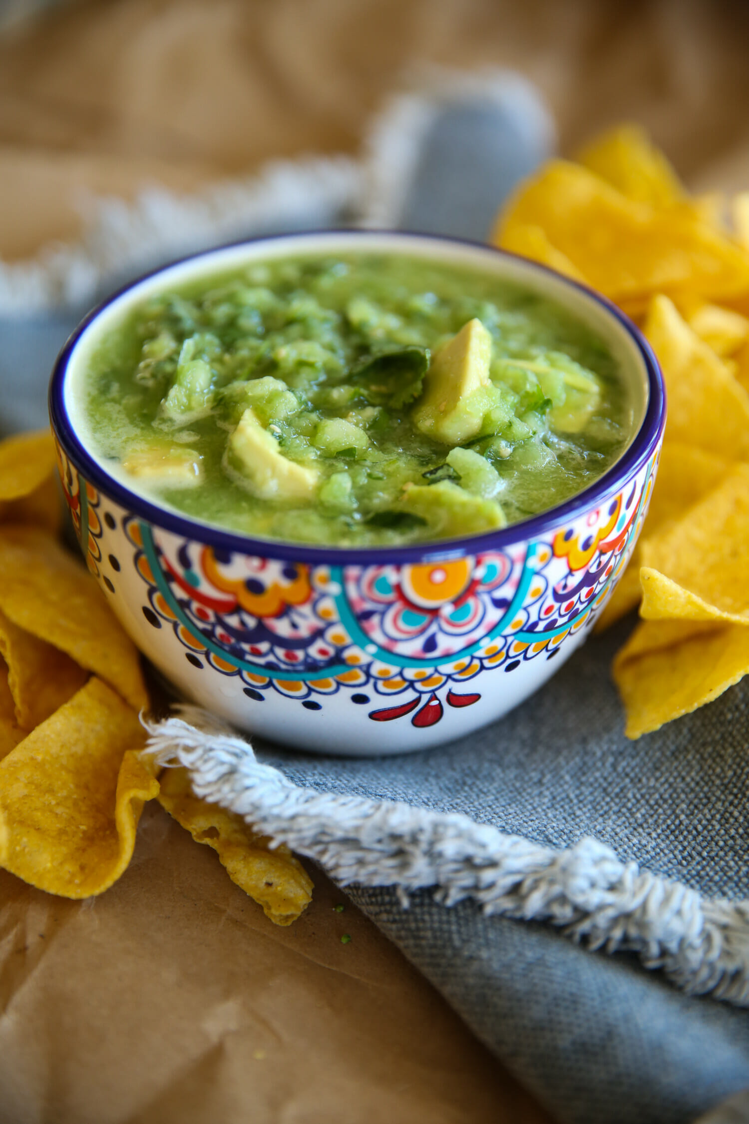 avocado salsa verde from our best bites