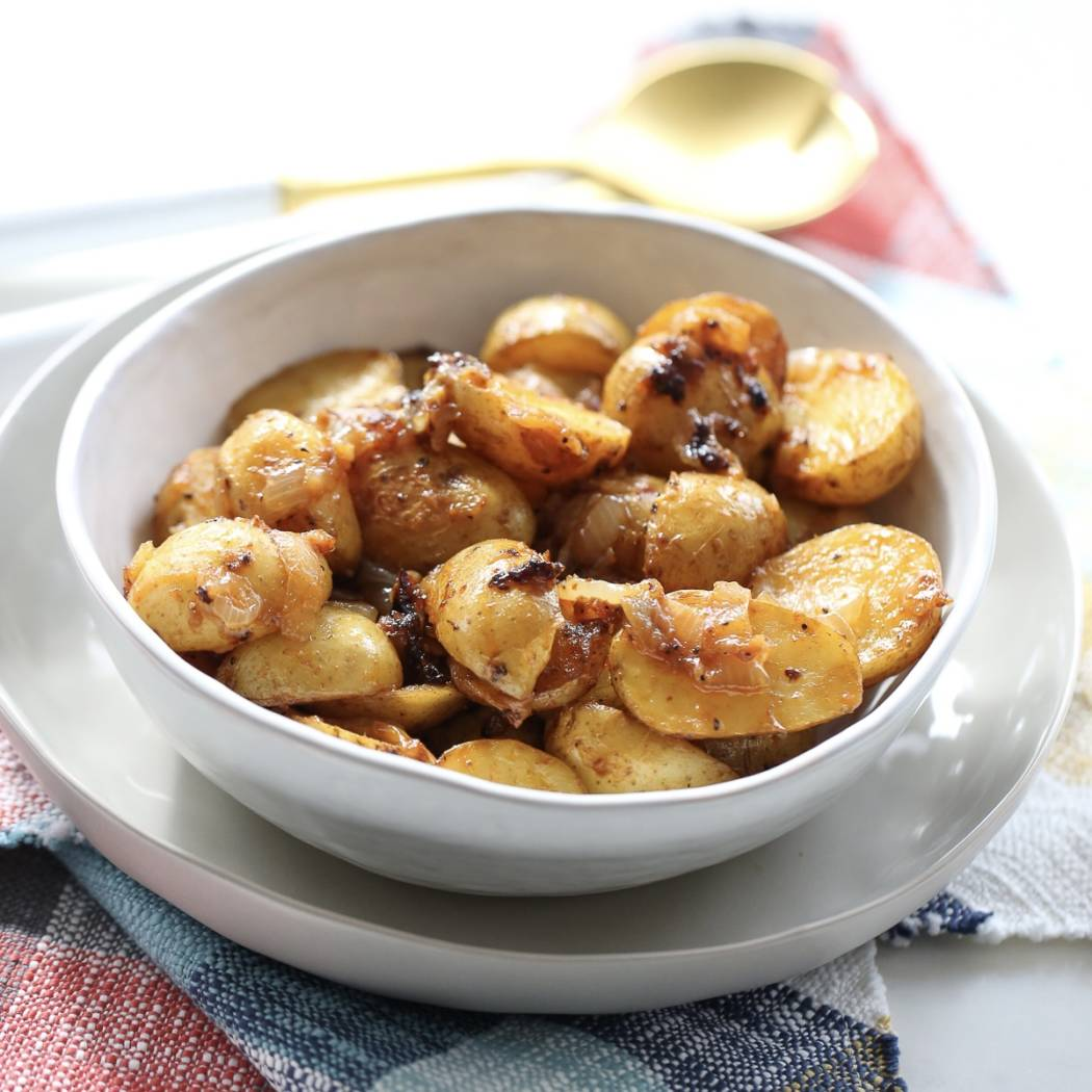 Smoked Potatoes and onions