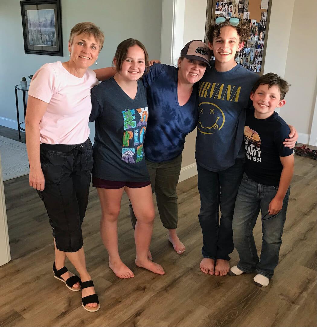 family in Rexburg, Idaho