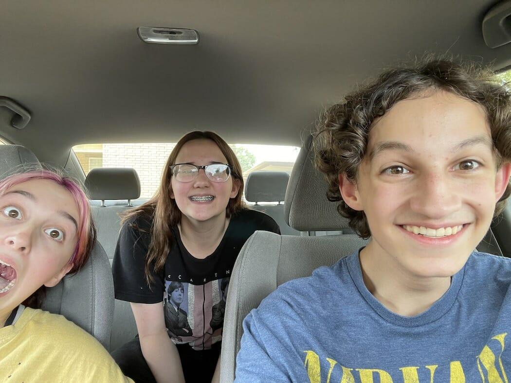 clark in car