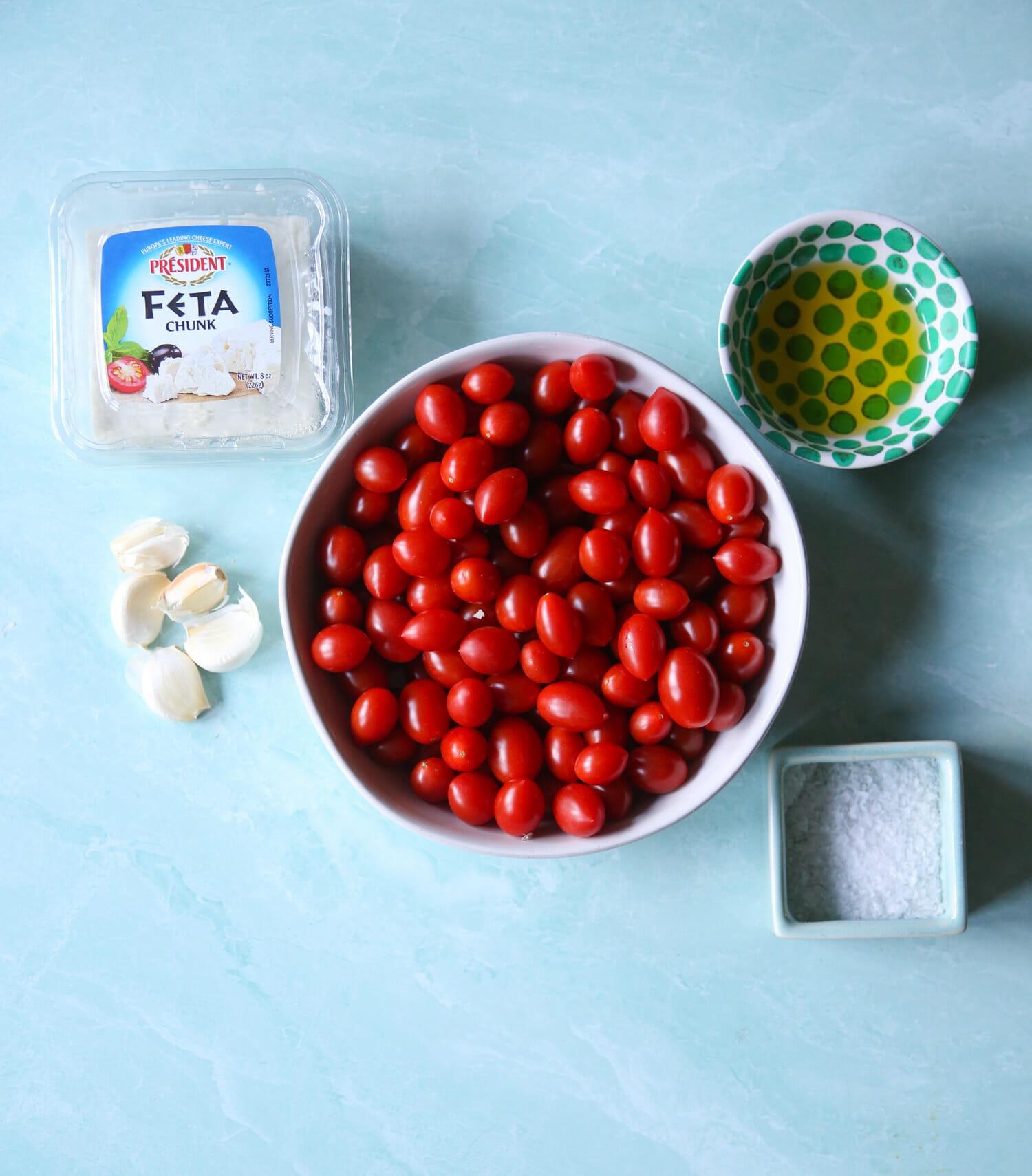 Ingredients for TikTok Pasta