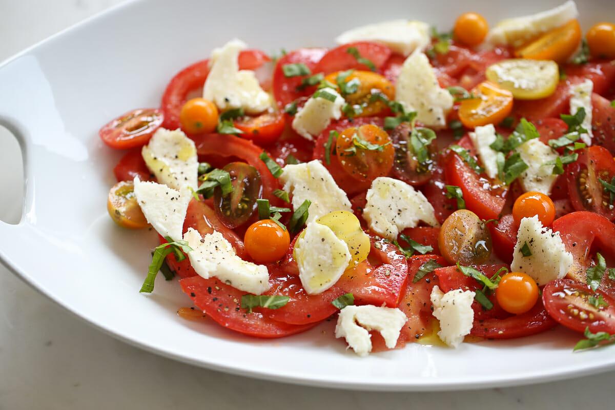 layered caprese salad