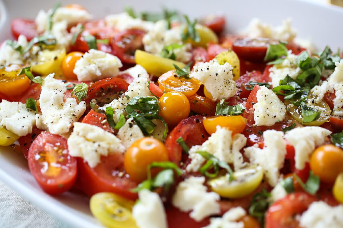 Caprese Salad in a Serving Dish