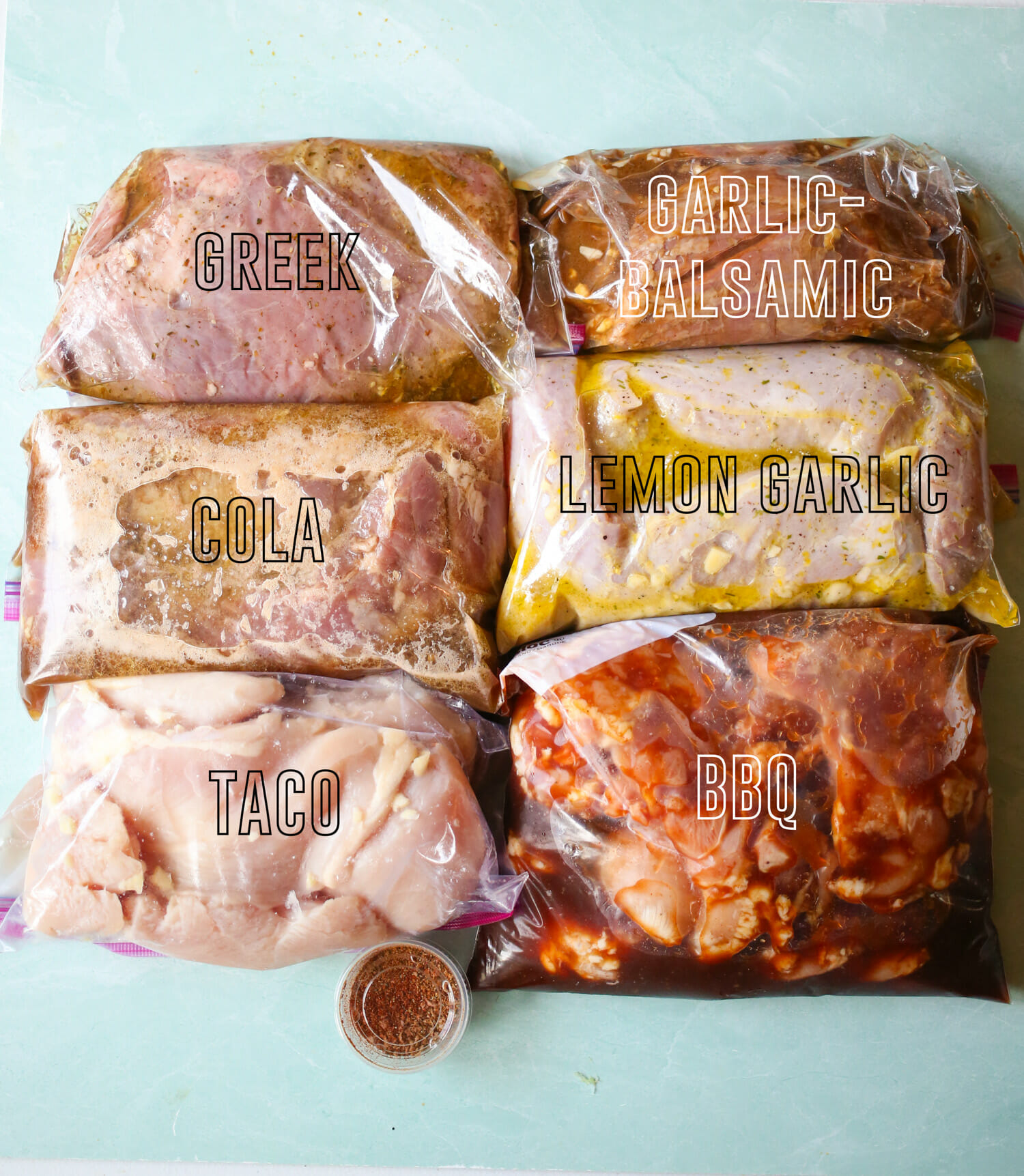 meat marinading in bags from our best bites